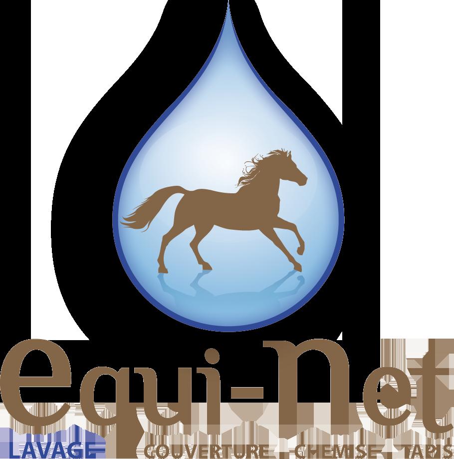 Logo Equi-net représentant un cheval dans une goutte d'eau